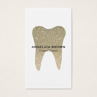 Tarjeta de visita dental del brillo