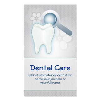 tarjeta de visita dental del diente de los dientes