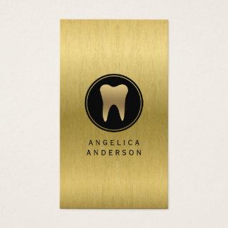 Tarjeta de visita dental del falso oro