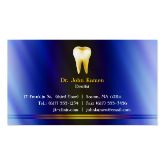 Tarjeta de visita dental elegante