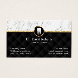 Tarjeta De Visita Dentista de lujo de mármol moderno de la cita