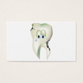 Tarjeta De Visita Dentista divertido del diente del dibujo animado