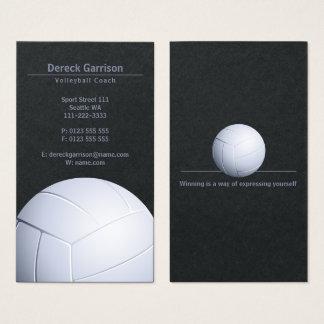 Tarjeta De Visita Deporte del coche el | del voleibol