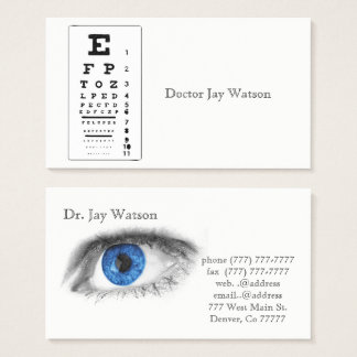 Tarjeta De Visita Destinos del destino del ojo del oftalmólogo del
