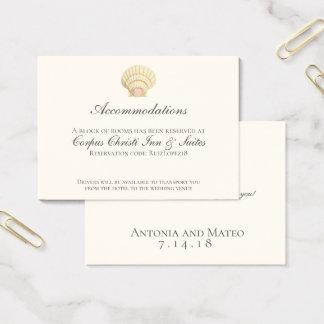 Tarjeta De Visita Detalles del boda del Seashell de la concha de
