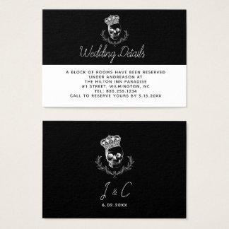 Tarjeta De Visita Detalles reales del boda del cráneo