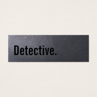 Tarjeta de visita detective del negro de carbón
