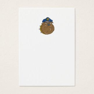 Tarjeta De Visita Dibujo animado de la cabeza del policía del dogo