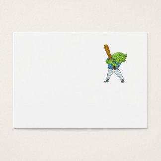 Tarjeta De Visita Dibujo animado del bateo del jugador de béisbol de