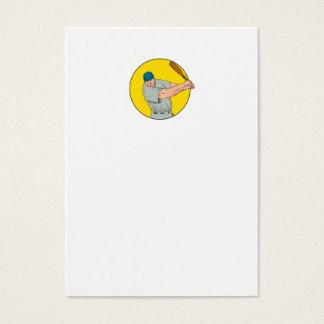 Tarjeta De Visita Dibujo de balanceo del palo del jugador de béisbol