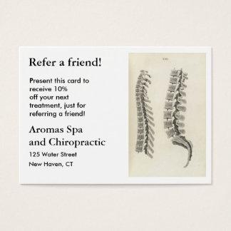Tarjeta De Visita Dibujo de las vértebras