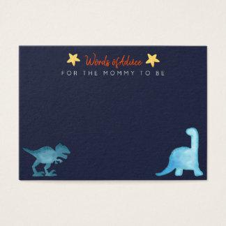 Tarjeta De Visita Dinosaur in watercolor Baby Shower.