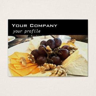 Tarjeta De Visita disco del queso con las uvas