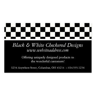 Tarjeta de visita:: Diseño a cuadros negro y blanc Tarjetas De Visita