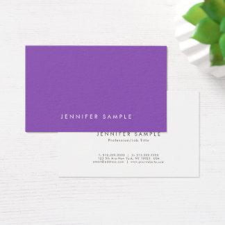 Tarjeta De Visita Diseño creativo moderno púrpura elegante
