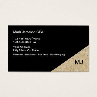 Tarjeta De Visita Diseño de los servicios del contable de CPA