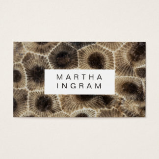 Tarjeta De Visita Diseño de piedra abstracto de piedra moderno de