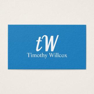 Tarjeta De Visita Diseño Elegante Moderno Minimalista Azul Fresco