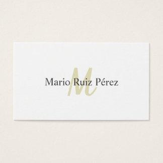 Tarjeta De Visita Diseño Elegante Moderno Minimalista Blanco