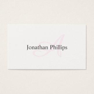Tarjeta De Visita Diseño Elegante Moderno Minimalista Blanco Rosa