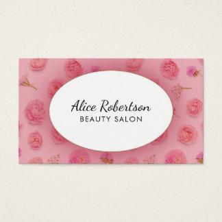 Tarjeta De Visita Diseño floral rosado