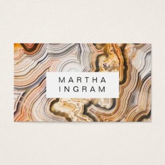 Tarjeta De Visita Diseño macro del extracto moderno de la ágata
