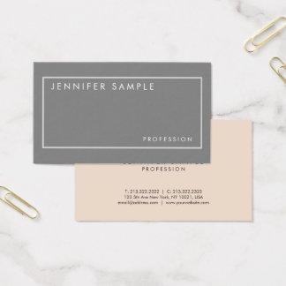 Tarjeta De Visita Diseño moderno de los colores elegantes