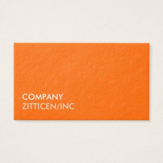 Tarjeta De Visita Diseño Naranja Profesional Banco Financiero Bolsa
