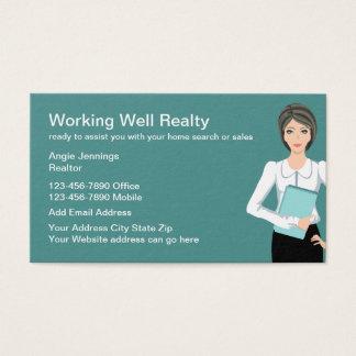 Tarjeta De Visita Diseño profesional del agente inmobiliario
