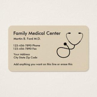 Tarjeta De Visita Diseño simple del médico de cabecera