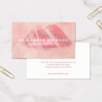 Tarjeta De Visita Distribuidor fresco del lápiz labial del rosa de