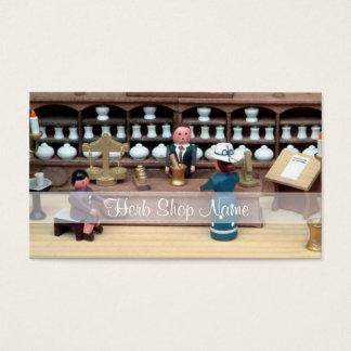 Tarjeta De Visita Dollhouse de la tienda de las hierbas