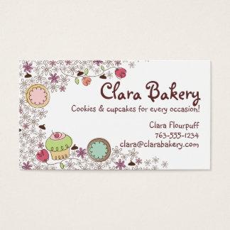 Tarjeta De Visita Doodles los dulces de la panadería de las flores