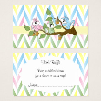 Tarjeta De Visita Ducha en colores pastel de la niña de la ardilla -