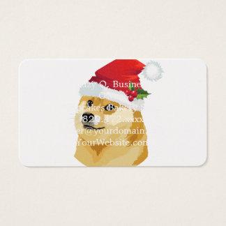 Tarjeta De Visita Dux del navidad - dux de santa - perro del navidad