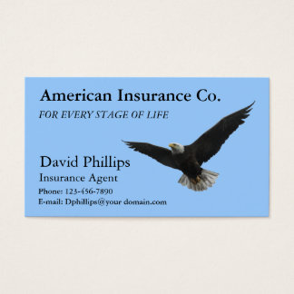 Tarjeta De Visita Eagle calvo americano patriótico