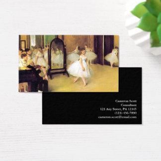 Tarjeta De Visita Edgar Degas el   la clase de baile