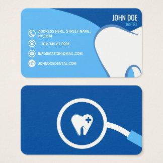 Tarjeta De Visita Ejemplo médico de la odontología azul del cirujano