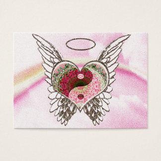 Tarjeta De Visita El ángel del corazón de Yin Yang se va volando la