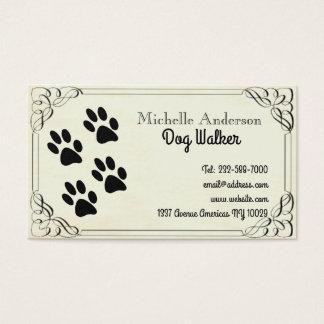Tarjeta De Visita El caminar y veterinario del perro