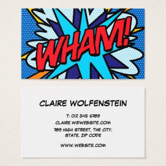 Tarjeta De Visita ¡El cómic personalizado del arte pop WHAM!