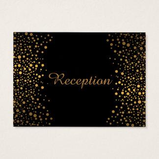 Tarjeta De Visita El confeti elegante del oro puntea el negro del |
