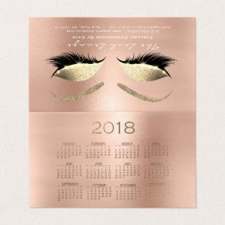 Tarjeta De Visita El estudio 2018 de la belleza del calendario azota
