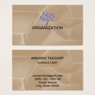 Tarjeta De Visita el extracto elegante forma la organización