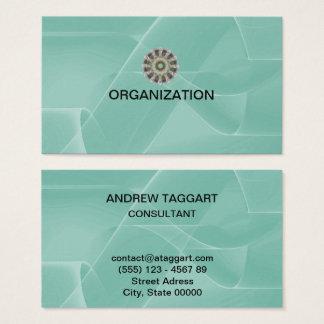 Tarjeta De Visita El extracto elegante forma la organización azul