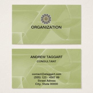 Tarjeta De Visita el extracto elegante forma la organización verde