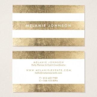 Tarjeta De Visita El falso oro elegante moderno raya al profesional
