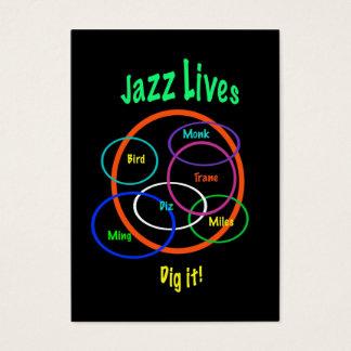 Tarjeta De Visita El jazz vive ATC