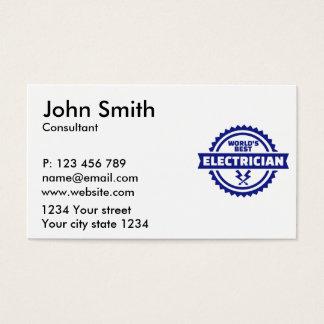 Tarjeta De Visita El mejor electricista del mundo