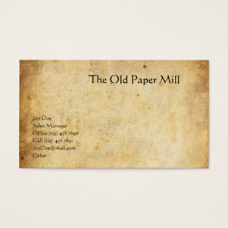 Tarjeta De Visita El molino de papel viejo